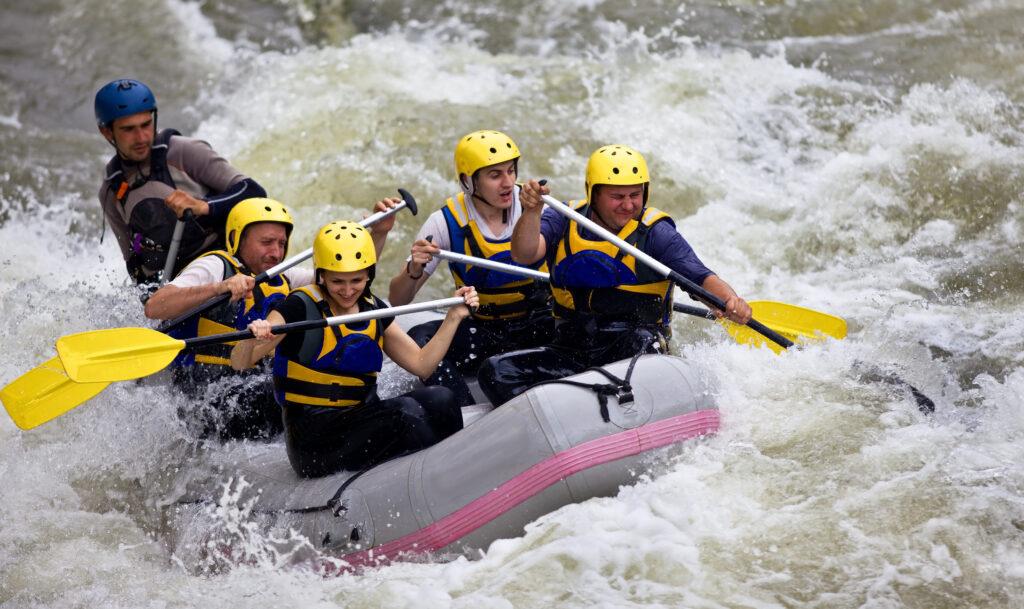 white water rafting near Maggie Valley, North Carolina